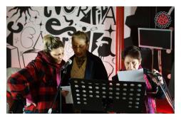 reading estemporaneo con Licia Forlivesi, Alevegan Sarti e Nasty